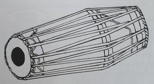 A sketch of a Mirdangam Drum